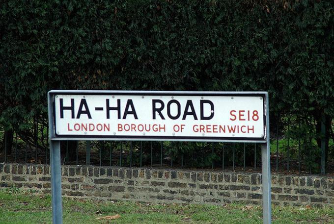 格林尼治的Ha Ha Road