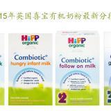 【Hipp】2015年英国喜宝奶粉分段最新调整