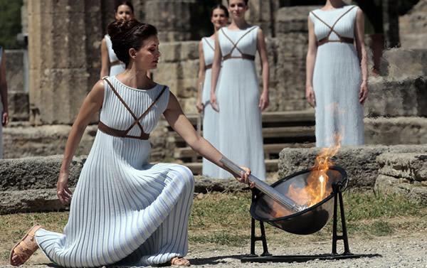 奥运火炬点火