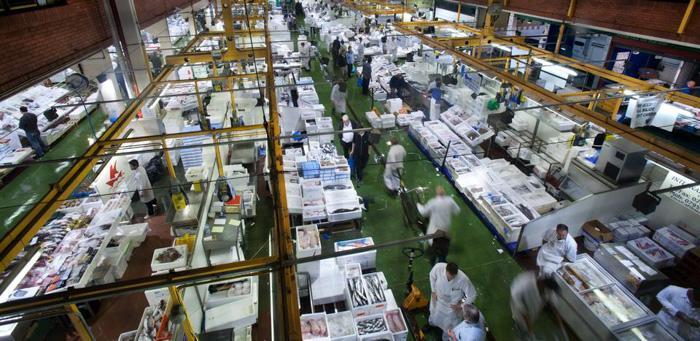 伦敦海鲜市场