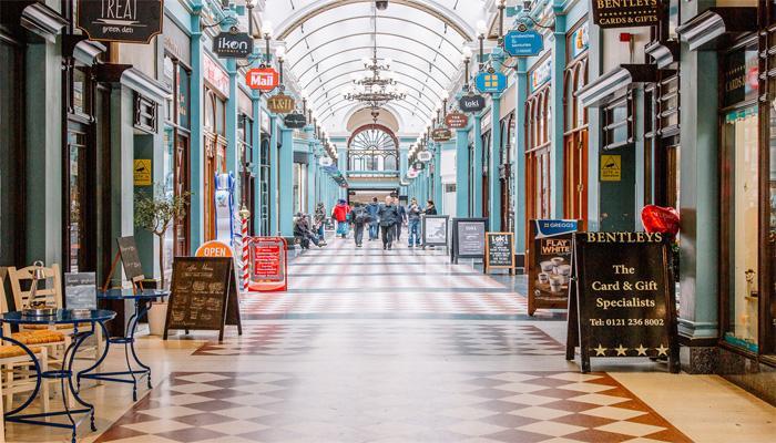 欧洲特色的拱廊街
