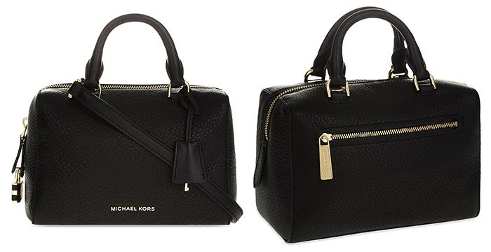 . MICHAEL MICHAEL KORS Kirby extra-small pebbled leather satchel