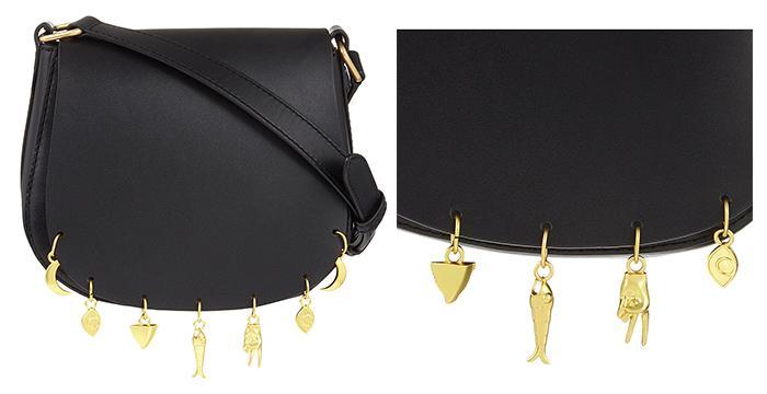 SANDRO Audio leather saddle bag