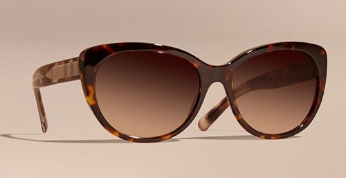 Check Detail Cat-Eye Sunglasses