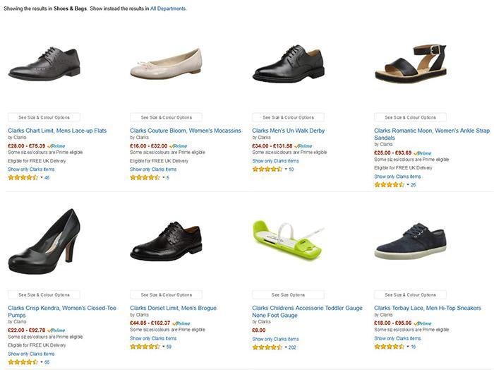 Amazon英国官网Clarks专页