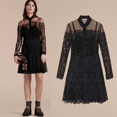 Burberry Lace Shirt Dress