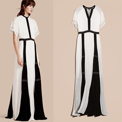 Burberry Floor-Length Silk Dress