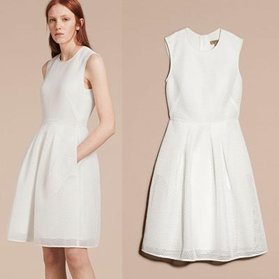 Burberry Mesh Fit And Flare Dress
