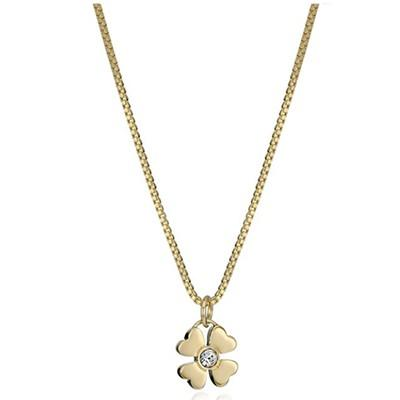 Kate Spade New York Dainty Sparklers Gold-Plated Four-Leaf Clover Pendant Necklace