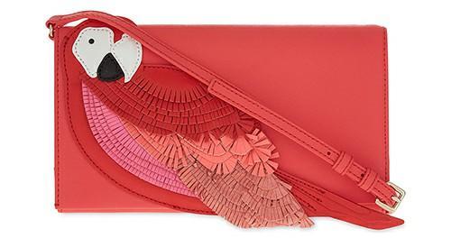 Flights of Fancy Leather Parrot Shoulder Bag