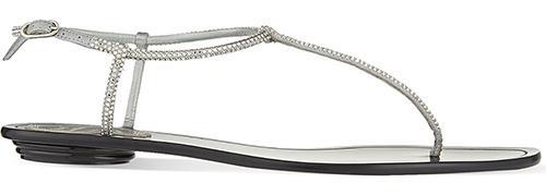 Rene Caovilla Crystal Flat Sandals