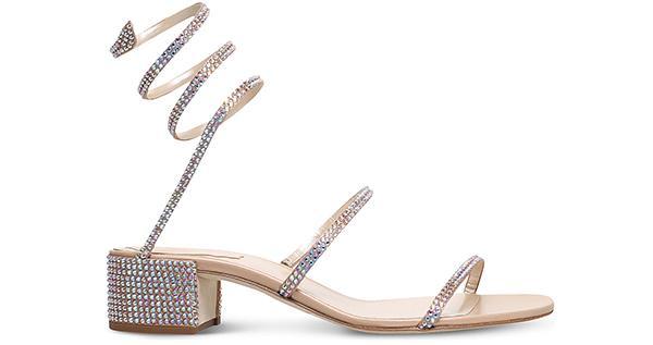 Rene Caovilla Twirl Swarovski-embellished Silk Heeled Sandals