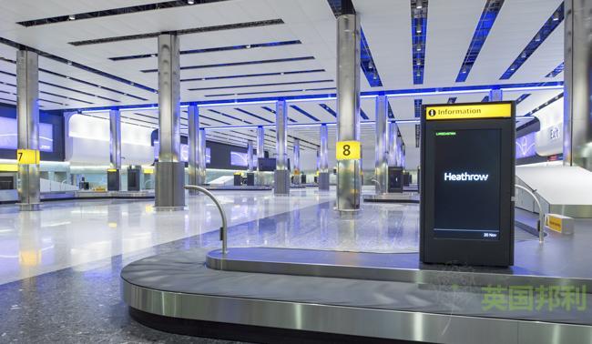 Heathrow, the new Terminal 2A, baggage reclaim hall, 20th November 2013.