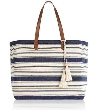 Maldives Stripe Beach Tote Bag