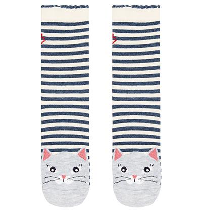 Nancy Nautical Cat Sock