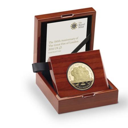 """伦敦大火""""350周年面值2镑纪念币"""
