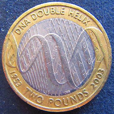 2003年发行的2镑硬币
