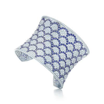 蓝宝石贝壳图形手镯