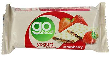 Go Ahead的酸奶涂层夹心饼干