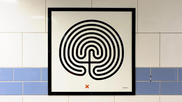 伦敦地铁迷宫图