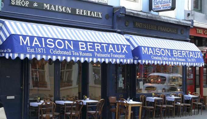 伦敦最老的甜点铺Maison Bertaux