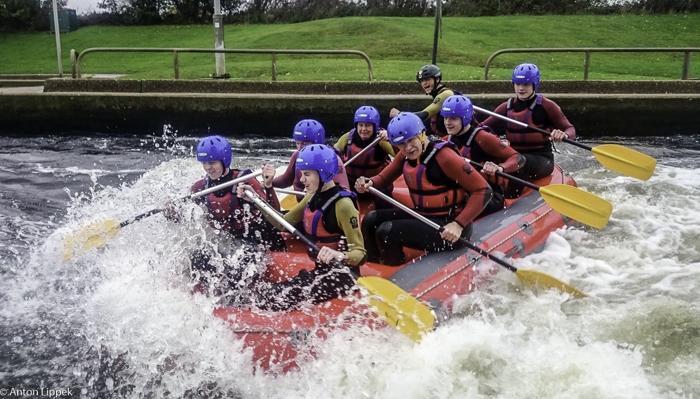 White Water Rafting at National Watersports Centre Nottingham. Image courtesy Anton Lippek