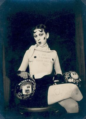 I am in training don't kiss me by Claude Cahun, c.1927.