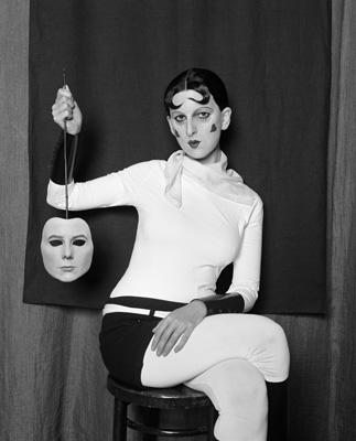 Me as Cahun Holding a Mask of my Face by Gillian Wearing, 2012