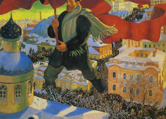 Boris Mikhailovich Kustodiev, Bolshevik, 1920.