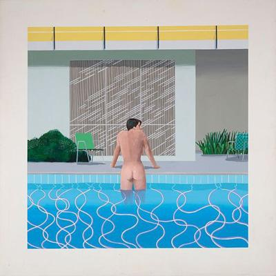 David Hockney Peter Getting out of Nick's Pool, 1966