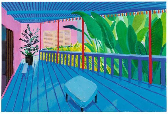 David Hockney Garden with Blue Terrace, 2015