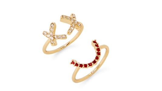 Rebecca Minkoff Smile Face Ring Set