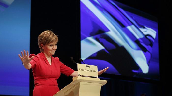 苏格兰第一大臣尼古拉·斯特金(Nicola Sturgeon)