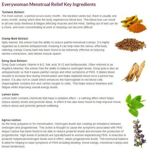 Everywoman Menstrual Relief 主要成分解析