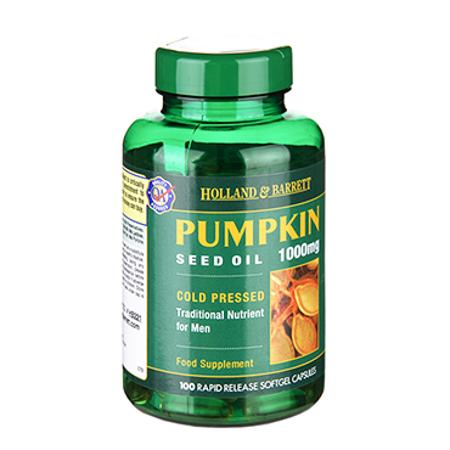 Holland & Barrett Pumpkin Seed Oil (荷柏瑞天然南瓜籽油软胶囊)
