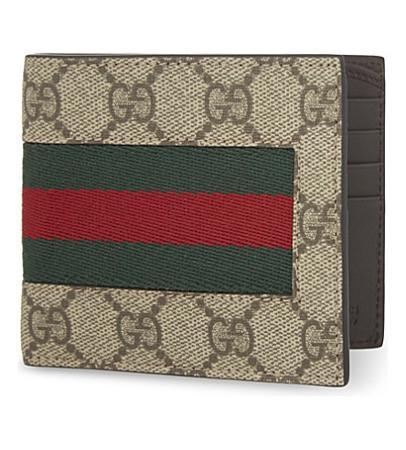 Gucci Web GG Supreme Billfold Wallet(古驰GG钱包)