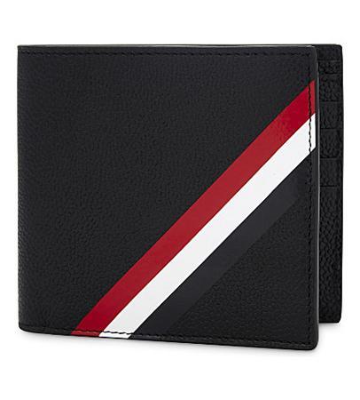 Thom Browne Diagonal Stripe Grained Leather Wallet(汤姆布朗斜条纹粒面皮革钱包)