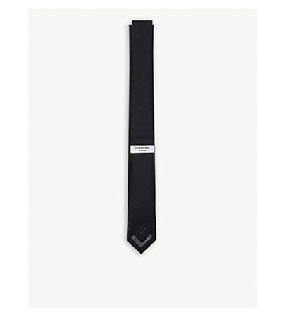 Thom Browne Solid Knitted Wool Tie(TB纯色针织羊毛领带)